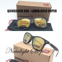 Sunglases Kacamata Pria Sport Quiksilver 36 Gold Premium Polarize