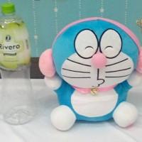 Boneka Doraemon Walkman Headset Pink