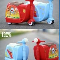 BP045 Koper Anak Bentuk Scooter Ekonomis Luggage Trolley Tas Troli A