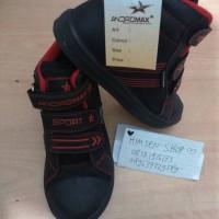 sepatu sekolah anak cowok boots merk andromax hitam merah ukuran 31-35