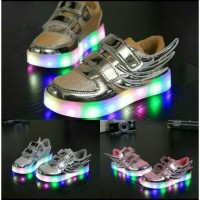 Sepatu Anak Sneakers Adidas Lampu Boot Miki Wing Led Shoes