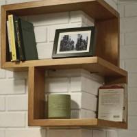 rak buku book case floating rak tundan ambalan