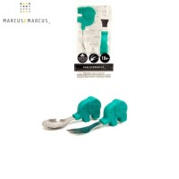 Marcus and Marcus Palm Grasp Spoon Fork Set - Green Elephant
