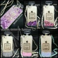Samsung Galaxy J5 2015 Coco Chanel Water Glitter Bottle Parfume Case