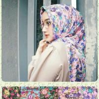 Jilbab/Hijab Segi Empat Motif Bunga/Shaby Chic Zara 1