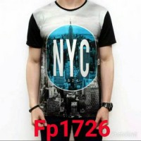 BAJU KAOS NEW YORK CITY IMPORT THAILAND FULL PRINT 3D FP1726