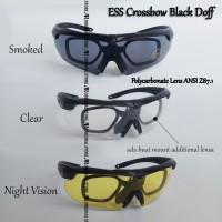 Kacamata ESS Crossbow Sepeda MTB Motor Military Frame Minus Plus Black