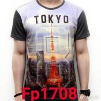 BAJU KAOS TOKYO CITY IMPORT THAILAND FULL PRINT 3D FP1708