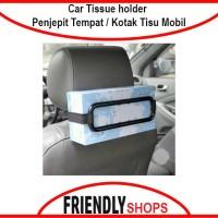 Car Tissue holder Penjepit Tempat Tissue Kotak Tisu Mobil