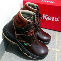 Sepatu boots safety kickers Coklat