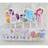 Lilin karakter Little Pony - Hiasan kue ulang tahun kuda poni