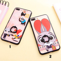 iring case soft casing iphone 6 6s 7 plus zootopia murah cute gajah