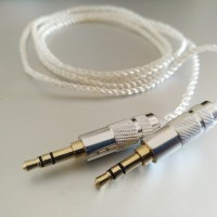 DIY Kabel M2M Silver Plated AUX Cable 3.5mm Male to Male 1M