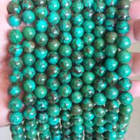 Bead Batu Xinjiang Green Turquise 10mm Bahan Aksesoris Gelang Kalung