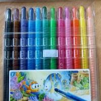 GROSIR!!! Twist Crayon Titi/Crayon Titi Puter/Krayon Titi Puter isi 12