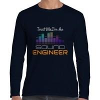 T-shirt lengan panjang pria Gildan sound Engineer