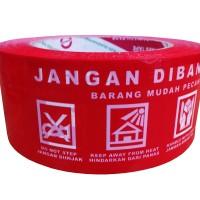 Lakban JANGAN DIBANTING DAIMARU Merah 100 Meter Lakban 2 Opp Tape
