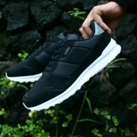 Piero Steel Runner Black Sepatu Sneakers Casual Pria Tertampan