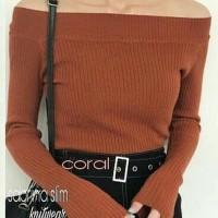 atasan sweater rajut wanita sabrina slim rajut murah