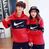 Jaket Couple Nike Hoodie Red