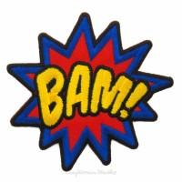 Emblem Bordir BAM Ukuran 7x5cm