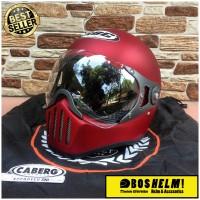Helm Cakil Pilot HBC Merah Maroon
