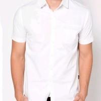 Baju formal pendek putih polos | Kemeja formal pria | Baju Kantor
