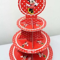 cupcake stand minnie mouse polkadot / cupcake 3 tier minnie mouse