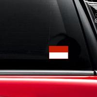 Stiker Mobil Bendera Indonesia Flag Merah Putih Vinyl Decal Sticker