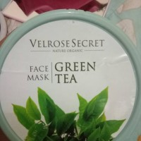 nature organic lulur wajah green tea velrose secret