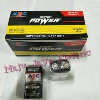 Baterai ABC Kotak 9 V Volt Super Extra Heavy Duty 6F22 Batere 9Volt 9V