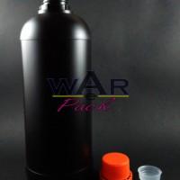 Botol Plastik Labor HDPE 1L Hitam Madu Pupuk Cair Pestisida Kimia