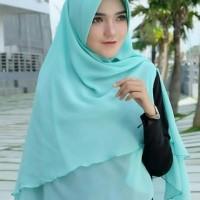 jilbab 2 layer pet khimar 2 layer pad hijab murah
