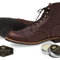 ND Leather Balsam perawatan sepatu Red Wing Hawkins Clarks DocMart dll
