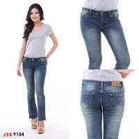 Celana Panjang Cutbray Jeans Wanita Denim Bootcut Basic JSK 9134