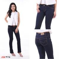 Celana Panjang Cutbray Jeans Wanita Bootcut Basic JSK 9116 Big Size