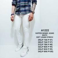 Celana Jeans Pria /Celana Jeans Putih/Skinny Jeans Pria