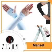 1 Set Sarung Manset Pelindung tangan lengan kain panjang Spandex YC45