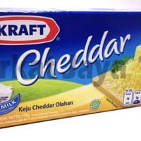 Keju Cheese Cheddar KRAFT 175 gram Keju Cheddar Olahan