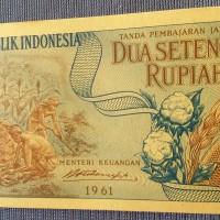 uang kuno langka jadul seri pekerja Rp 2 setengah tahun 1961