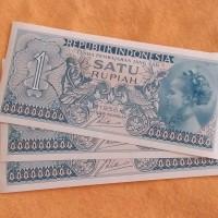uang kertas kuno lama lawas jadul 1 rupiah Tahun 1956