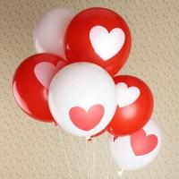 Balon Lates Love Merah&Putih