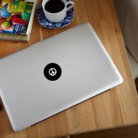 Decal Sticker Macbook Apple Macbook Logo Peace Symbol Perdamaian Vinyl