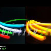 Lampu LED Alis Motor Mobil Dua Warna Untuk Sein Sen DRL Fleksibel 30CM