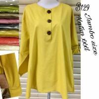 blouse katun jumbo kuning,merah,hijau,ungu,