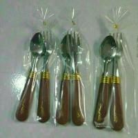 Souvenir Pernikahan Sendok garpu Mini Teh Kecil Kemas Plastik Sovenir