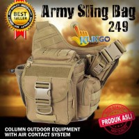 TAS SELEMPANG ARMY 249 HIGH QUALITY IMPORT / ARMY SLING BAG