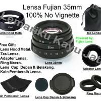 Lensa Fujifilm X-A3 X-A2 X-A1 X-T1 X-T2 X-T10 X-Mount Fujian Lens 35mm