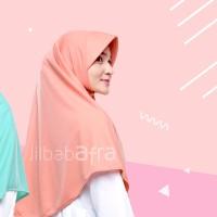 Beria M - Bergo Kaos Jilbab Afra Size M - Baby Pink