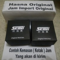 jam tangan wanita original model SKMEI 9086 BLACK strap murah anti air